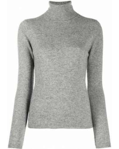 Кашемировый серый свитер в рубчик узкого кроя Allude