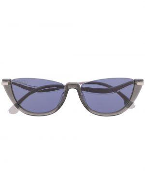 Серебряные солнцезащитные очки металлические Jimmy Choo Eyewear