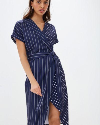 Платье прямое синее Bezko