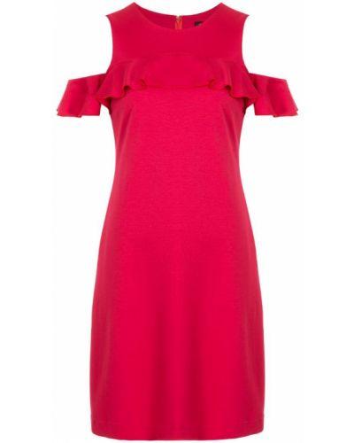 Платье с вырезом красный Loveless