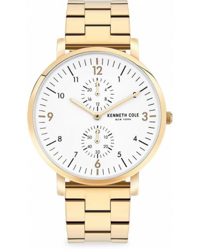 Biały zegarek srebrny Kenneth Cole New York