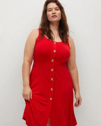 Платье - красное Violeta By Mango