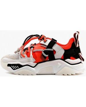 Оранжевые кроссовки из натуральной кожи Sasha Fabiani