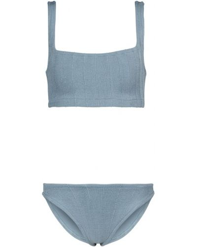 Niebieski bikini z nylonu Hunza G