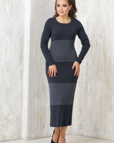 Синее платье шерстяное Vay
