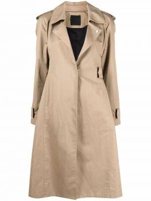 Бежевое льняное пальто Givenchy