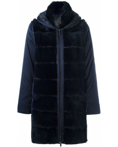 Синее пальто с капюшоном Guy Laroche Pre-owned