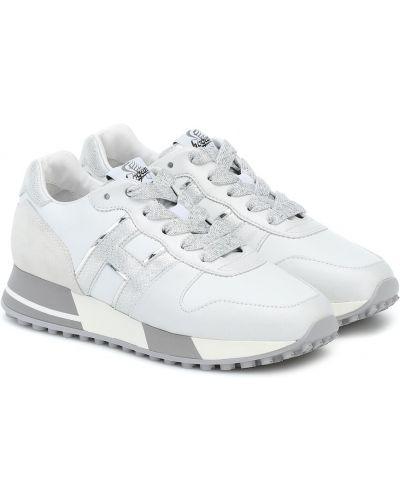Белые кроссовки для бега из натуральной кожи для бега Hogan