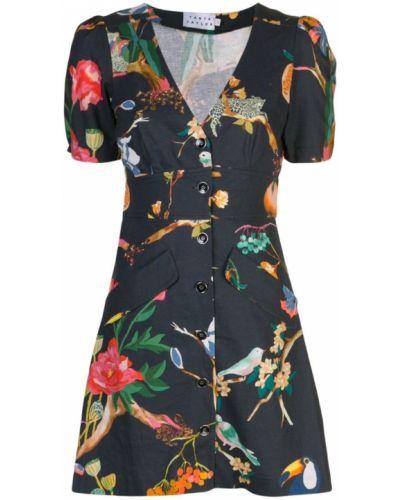 Платье с V-образным вырезом льняное Tanya Taylor