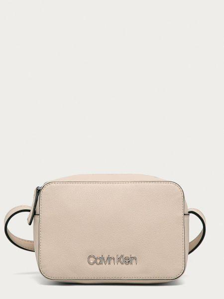 Бежевая сумка через плечо с подкладкой Calvin Klein