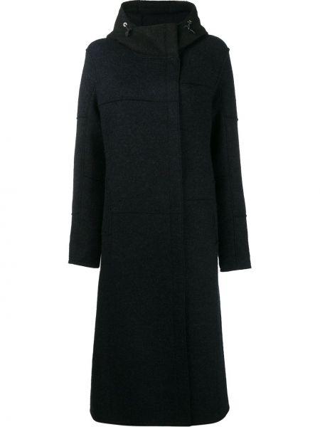 Niebieski płaszcz wełniany Frauenschuh