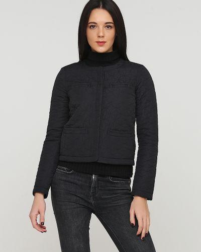 Черная короткая куртка двусторонняя на кнопках Kookai