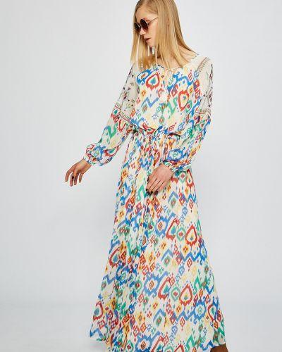 Джинсовое платье с поясом на резинке Pepe Jeans
