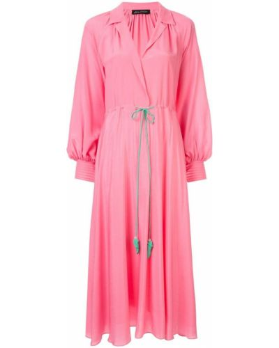 Платье миди на запах - розовое Anna October