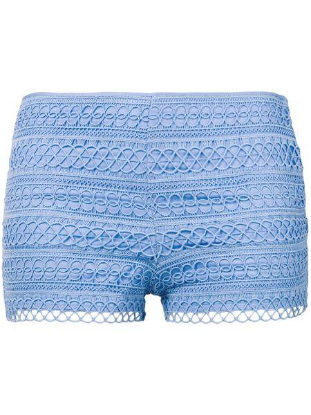 Короткие шорты с вышивкой синий Charo Ruiz Ibiza
