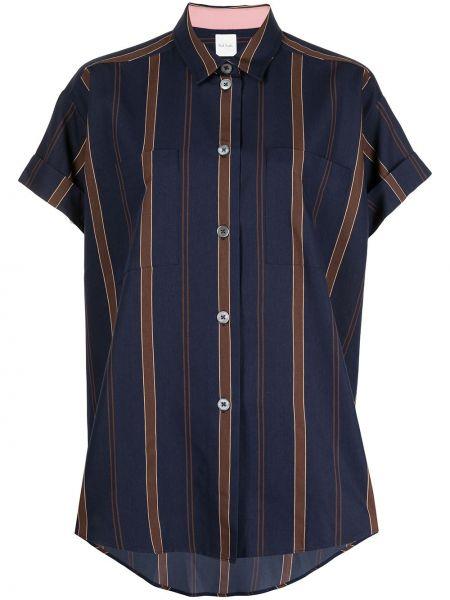 Синяя рубашка с короткими рукавами в полоску Paul Smith