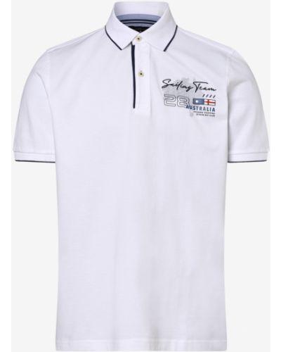 Biały t-shirt z printem Andrew James Sailing
