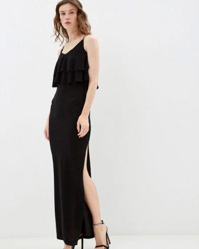 Прямое черное платье By Swan