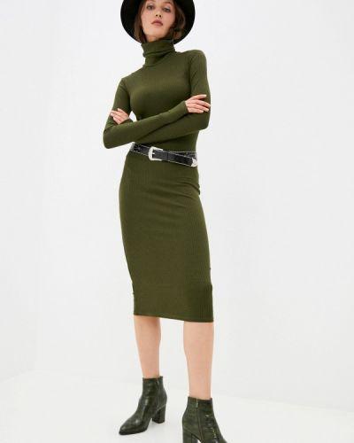 Трикотажное зеленое вязаное платье Trendyangel