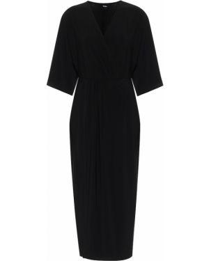 Черное платье миди Max Mara