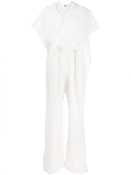 Белый шерстяной свободные комбинезон с V-образным вырезом Christian Wijnants