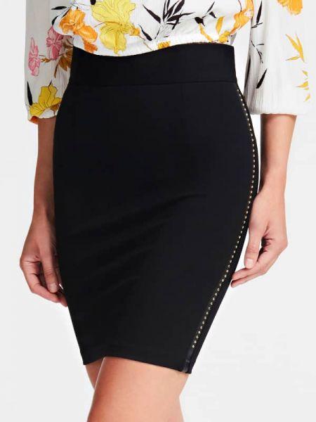 Czarna spódnica ołówkowa z wiskozy Guess