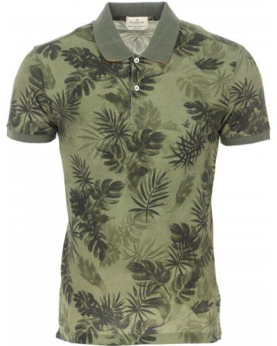 Zielony t-shirt bawełniany krótki rękaw Brooksfield