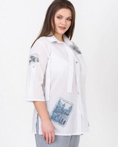 Рубашка с длинным рукавом белая Ricamare