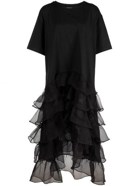 Czarna sukienka bawełniana Cynthia Rowley