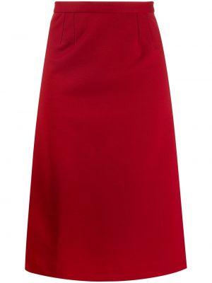Прямая юбка миди с поясом в рубчик Maison Martin Margiela Pre-owned