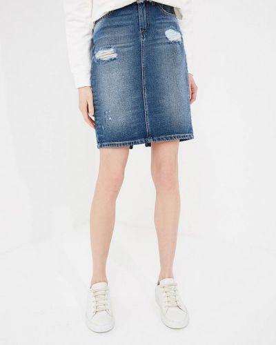 Синяя юбка мини Frankie Morello