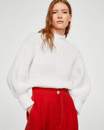 Вязаный свитер свободного кроя в полоску Mango