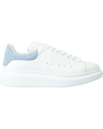 Buty sportowe skorzane - niebieskie Alexander Mcqueen