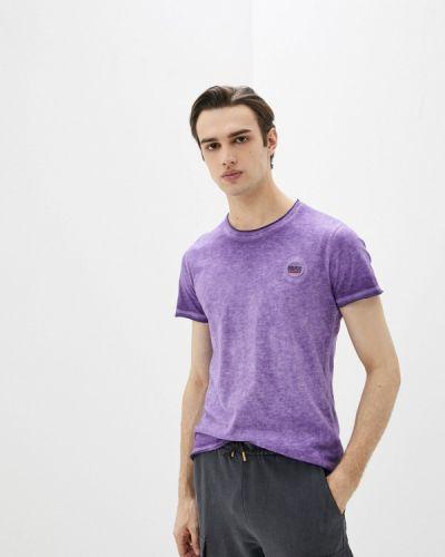 Фиолетовая футболка с короткими рукавами Blend