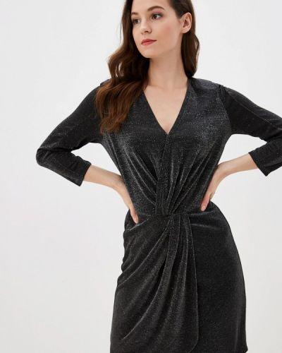 Вечернее платье осеннее черное Naf Naf