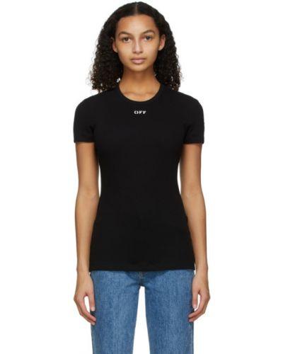 Bawełna czarny koszula krótkie rękawy z kołnierzem Off-white