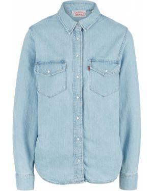 Джинсовая рубашка с длинным рукавом синяя Levi's®