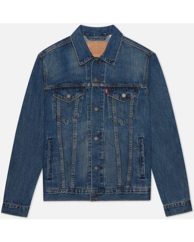 Базовая хлопковая синяя джинсовая куртка Levi's®