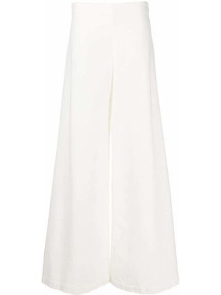 Свободные белые свободные брюки свободного кроя на молнии Stefano Mortari