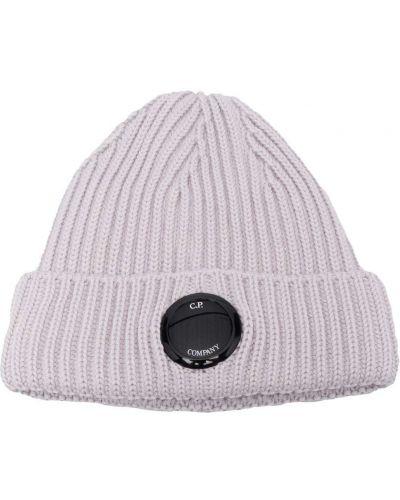 Шерстяная шапка бини - серая C.p. Company