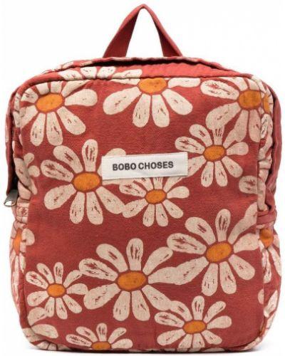 Plecak w kwiaty bawełniany z printem Bobo Choses