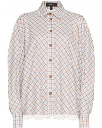 Свободная синяя рубашка на пуговицах Anouki