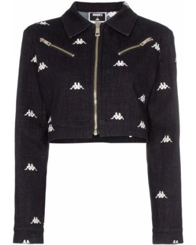 Черная джинсовая куртка Charm`s