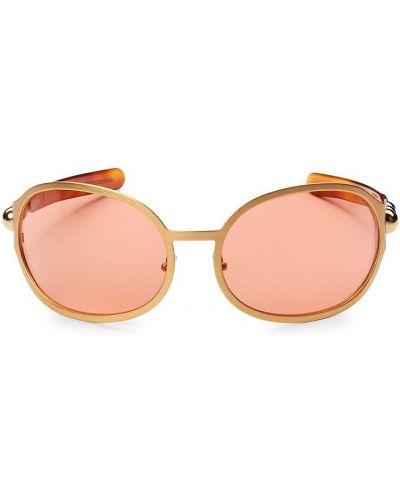 Złote okulary Chloe