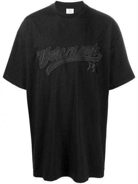 Koszula krótkie z krótkim rękawem z logo prosto Vetements