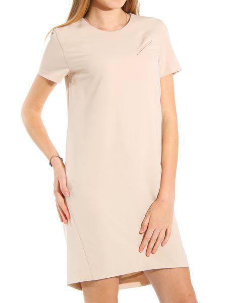 Платье из полиэстера - бежевое Cerruti 18crr81