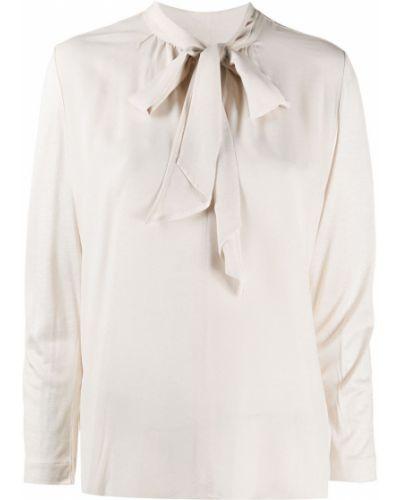 Шелковая с рукавами блузка с бантом Luisa Cerano