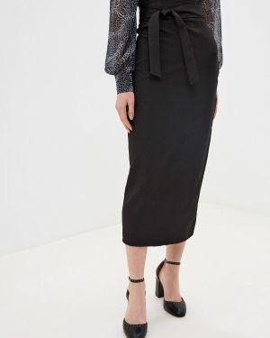 Облегающее платье осеннее черное Gepur