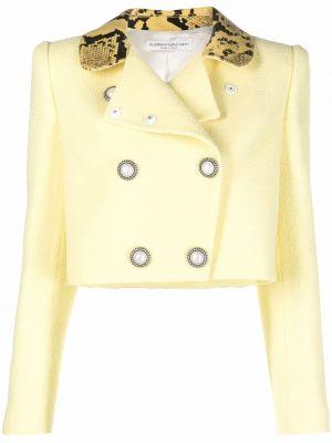 Желтая куртка твидовая Alessandra Rich