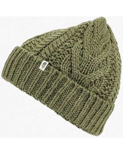 Зеленая шапка осенняя The North Face